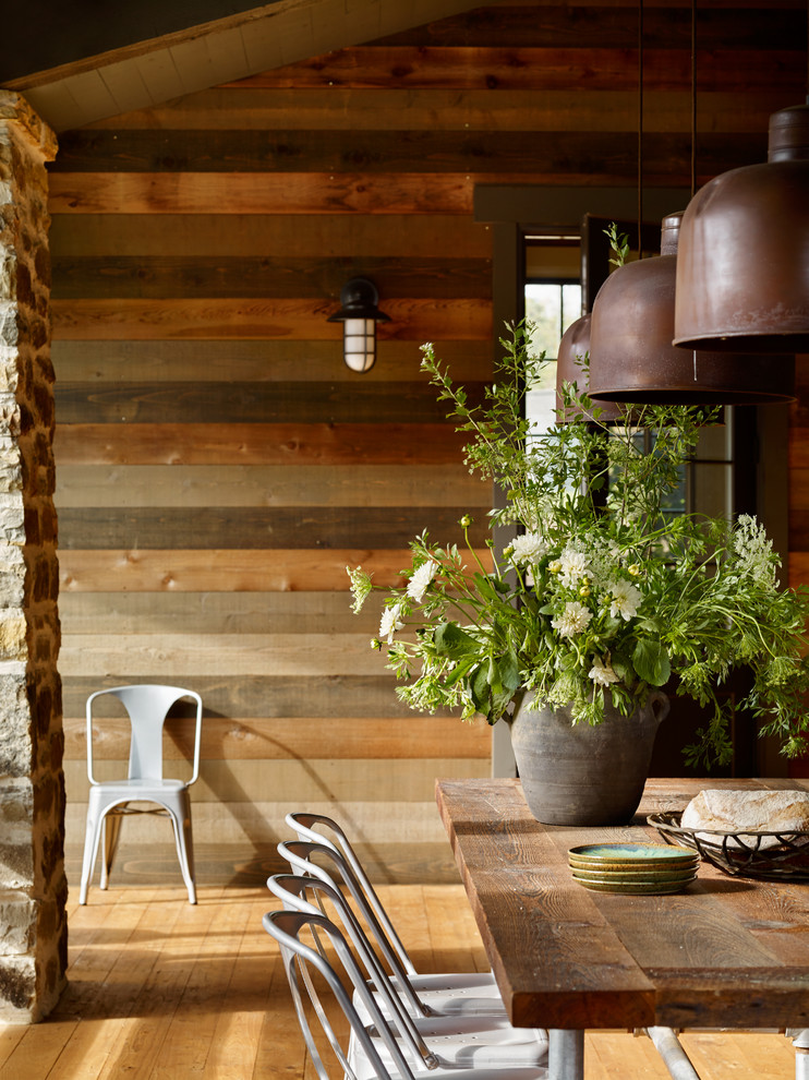 Rustic exterior home idea in Other