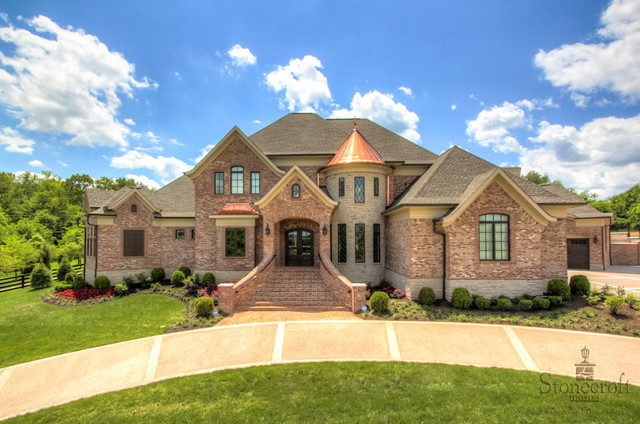 Stonecroft homes european estate traditional exterior for Estate home designs