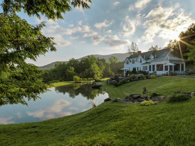 Stowe Vermont Traditional Country Home