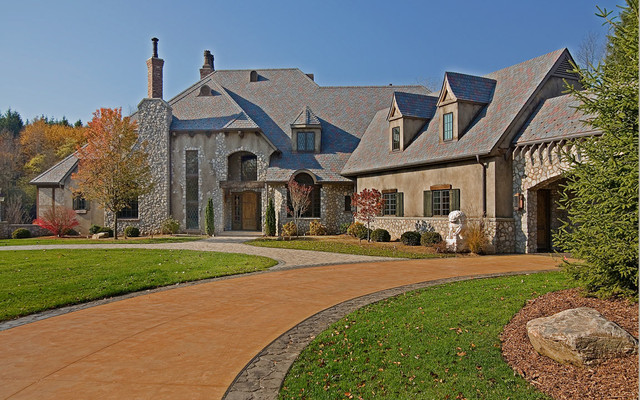 Rustic French Country Estate Traditional Exterior