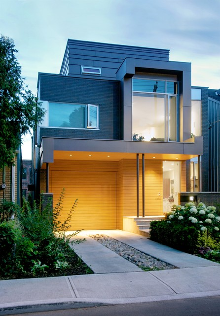 modern wood siding treatment to exterior of house