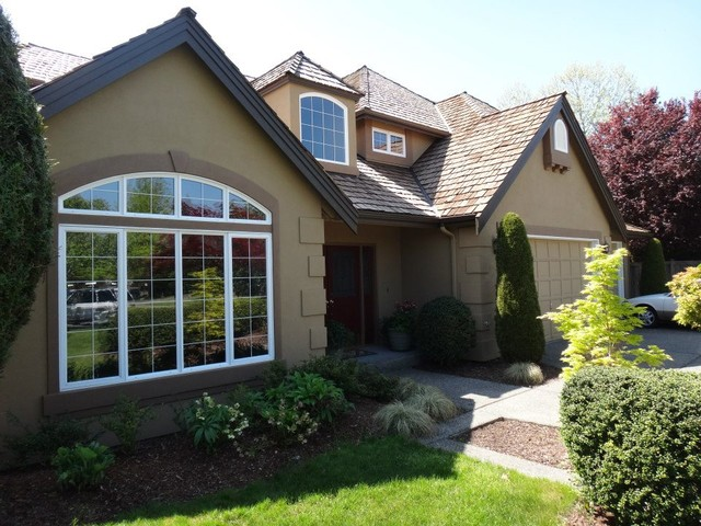 Stucco Exterior Paint Color Makeover AFTER Exterior Seattle By ColorWhi