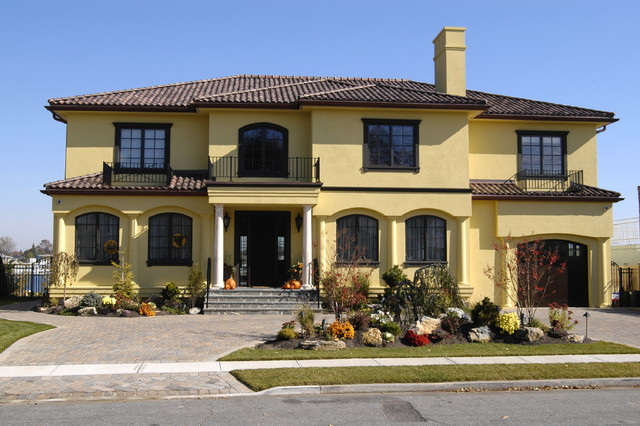 Stucco mediterranean exterior new york by for Mediterranean stucco