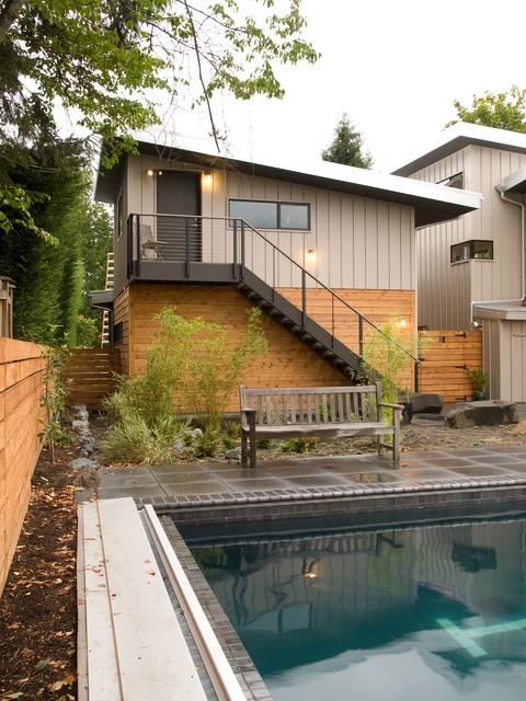 Studio Over Garage Modern Exterior Seattle By