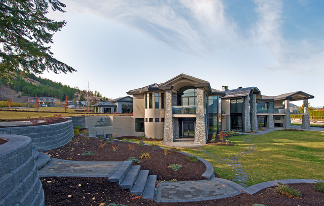 Inspiration for a modern exterior home remodel in Vancouver