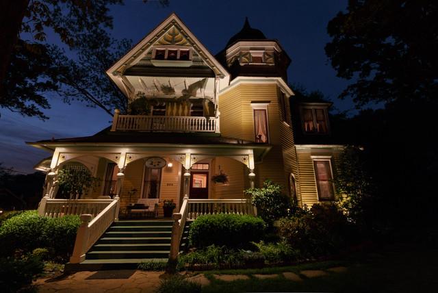 Amazing Sugar Magnolia Bed And Breakfast Lighting Project Atlanta, GA Victorian  Exterior