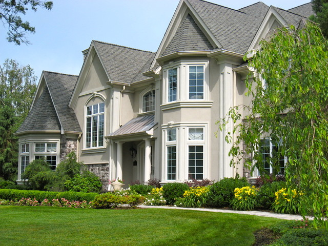 Summertime blooms traditional exterior newark by for Exterior stucco trim ideas