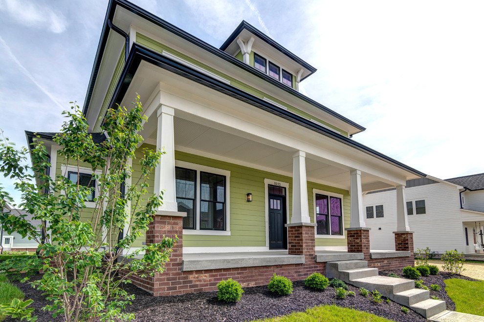 Sunrise On The Monon The Summers Craftsman Exterior Indianapolis By Old Town Design Group