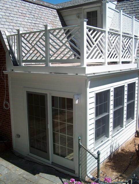 Sunroom Addition W Roof Top Deck In Silver Spring Md Traditional Exterior Dc Metro By