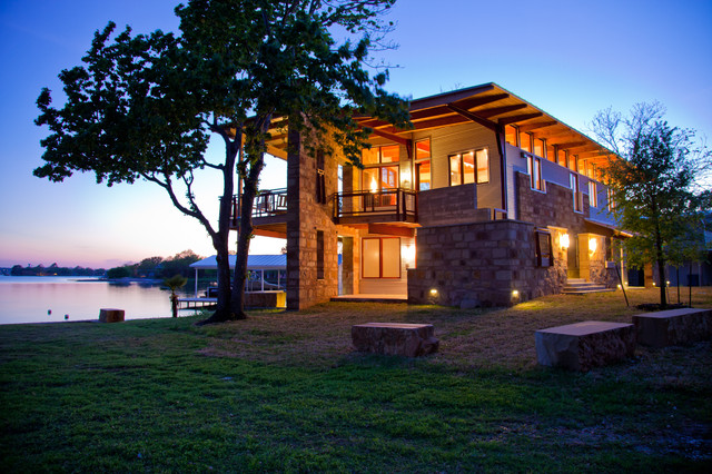 Sunset on the Lake contemporary-exterior
