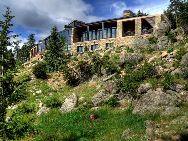 Sunshine canyon house rustic exterior denver by for Building a defensible home