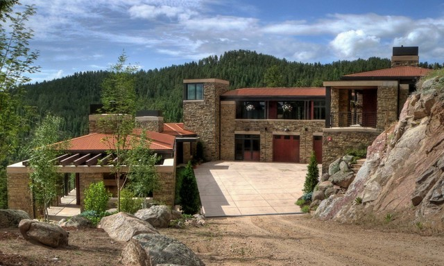 Sunshine Canyon house rustic-exterior