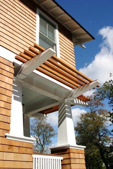Surfers End Trellis Detail Beach Style Exterior New