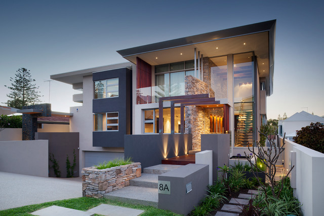 Swanbourne Duplex 2012 Contemporary Exterior Perth