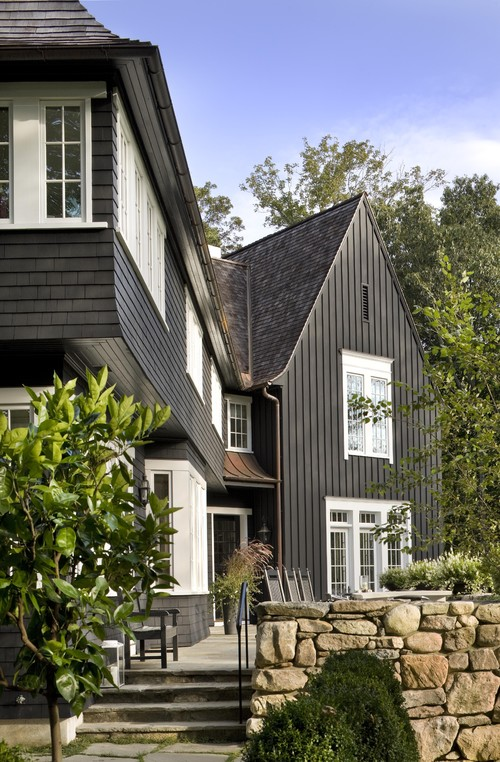 Black houses home exterior paint ideas - Exterior black paint ideas ...