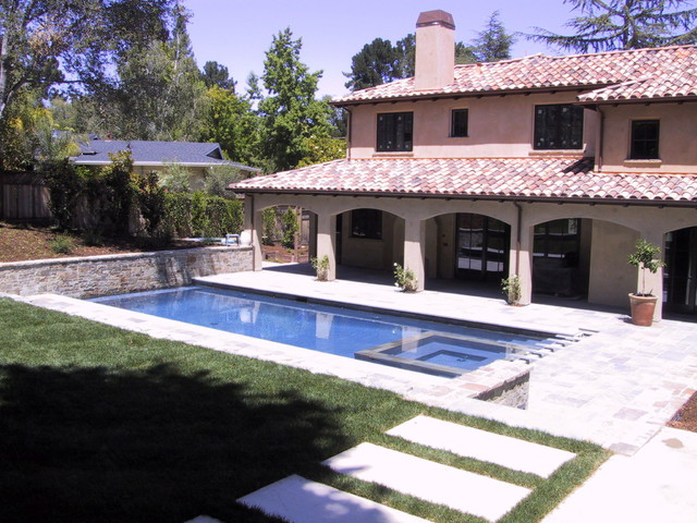 swimming pools and outdoor spaces mediterranean-exterior