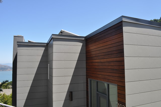 swisspearl and ipe rainscreen siding modern exterior san