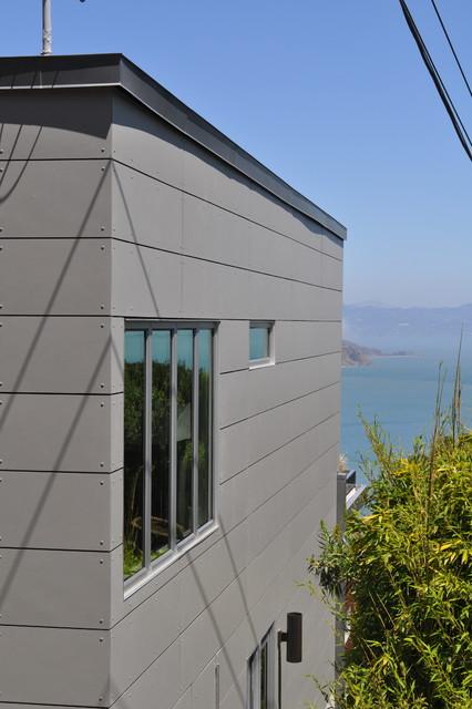 Swisspearl Rainscreen Exterior Siding Grey Bonelli