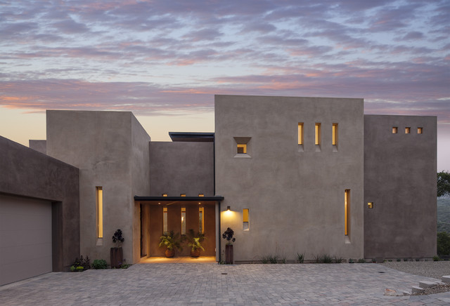 Stucco Design Ideas design ideas for a modern exterior in atlanta with wood siding This Is An Example Of A Contemporary Two Story Exterior In Santa Barbara