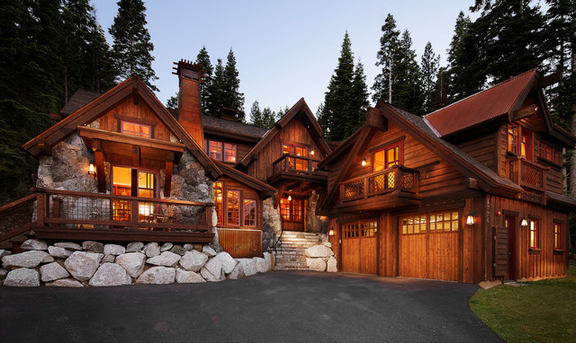 Stupendous Tahoe Homes Rustic Exterior Los Angeles By Michael Kelley Largest Home Design Picture Inspirations Pitcheantrous