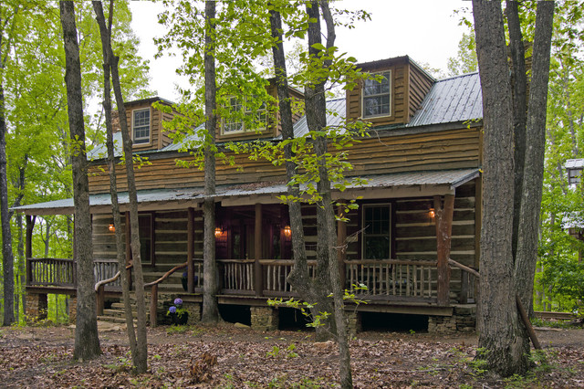 Talking Rock Log Cabin : rustic exterior from www.houzz.com size 640 x 426 jpeg 175kB