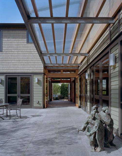 Tangletown residence contemporary exterior seattle for Porte cochere vs carport