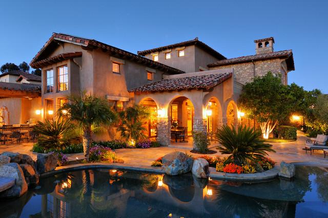 Tasteful tuscan mediterranean exterior san diego for Luxury tuscan homes