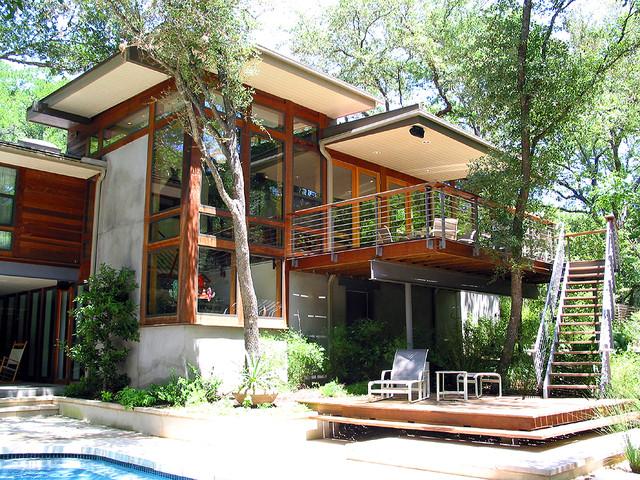 Taylor Slough Creek House_Back Elevation modern-exterior