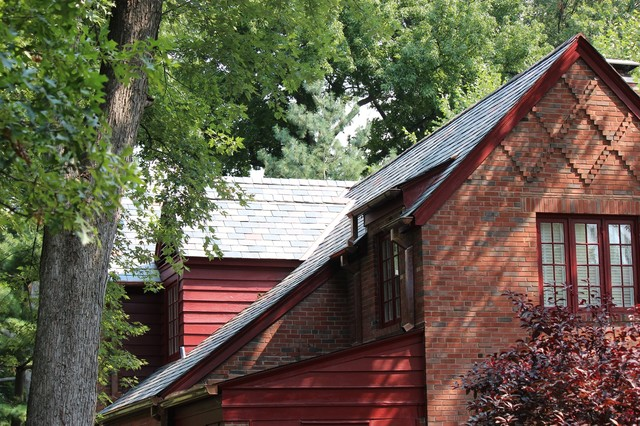slate roof restoration st louis traditional exterior st louis