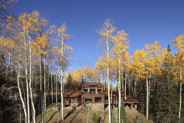 Telluride Houses rustic-exterior
