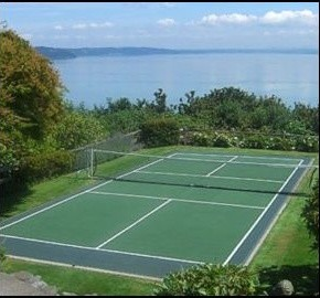 Tennis Court traditional-exterior