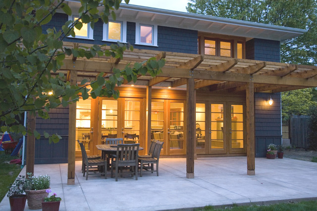 terrace and pergola contemporary exterior seattle