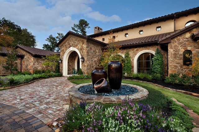 Texas Chic Mediterranean Exterior Houston By