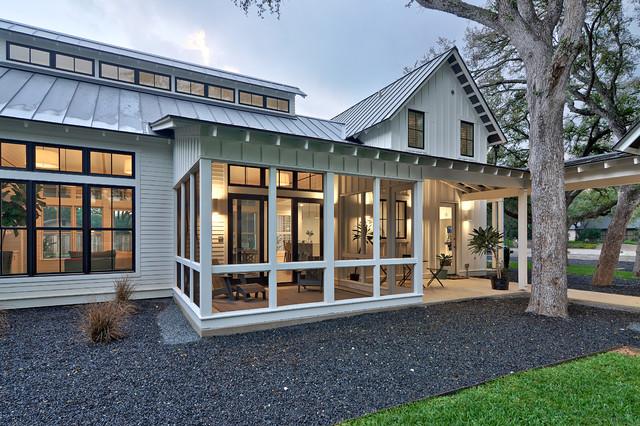 cool modern farmhouse exterior | Texas Contemporary - Farmhouse - Exterior - Austin - by ...