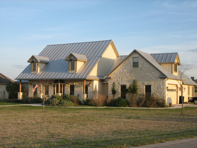 Texas Farm Traditional Exterior Austin on Texas Hill Country Ranch House Plans