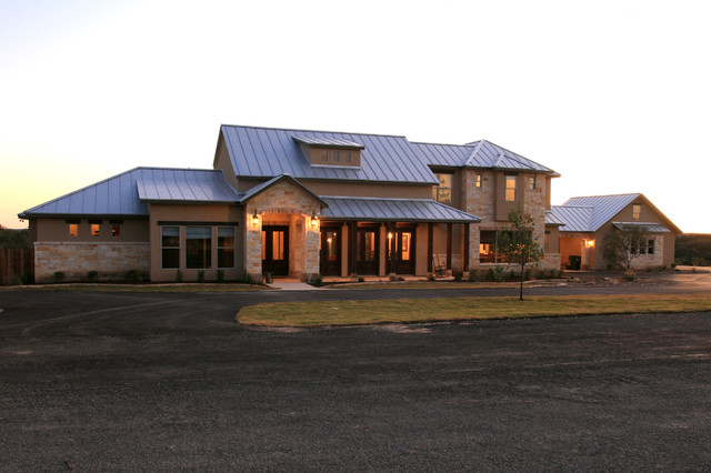 Texas hill country luxury custom home traditional for Hill country ranch home plans