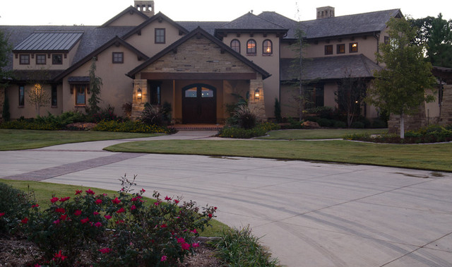 Texas Hill Country Style - Traditional - Exterior - Oklahoma City ...