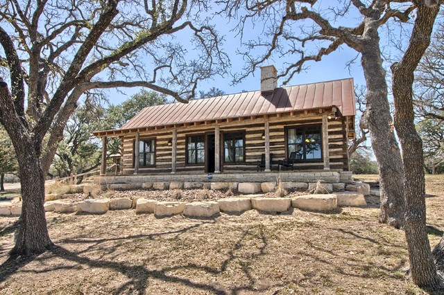 texas log cabins rustic exterior austin by paddle