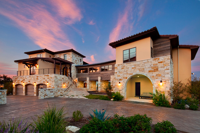 Texas Modern Mediterranean Exterior Austin on richmond homes floor plans