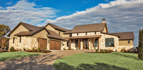 Exterior inspiration pictures domestic imperfection for Austin stone house plans