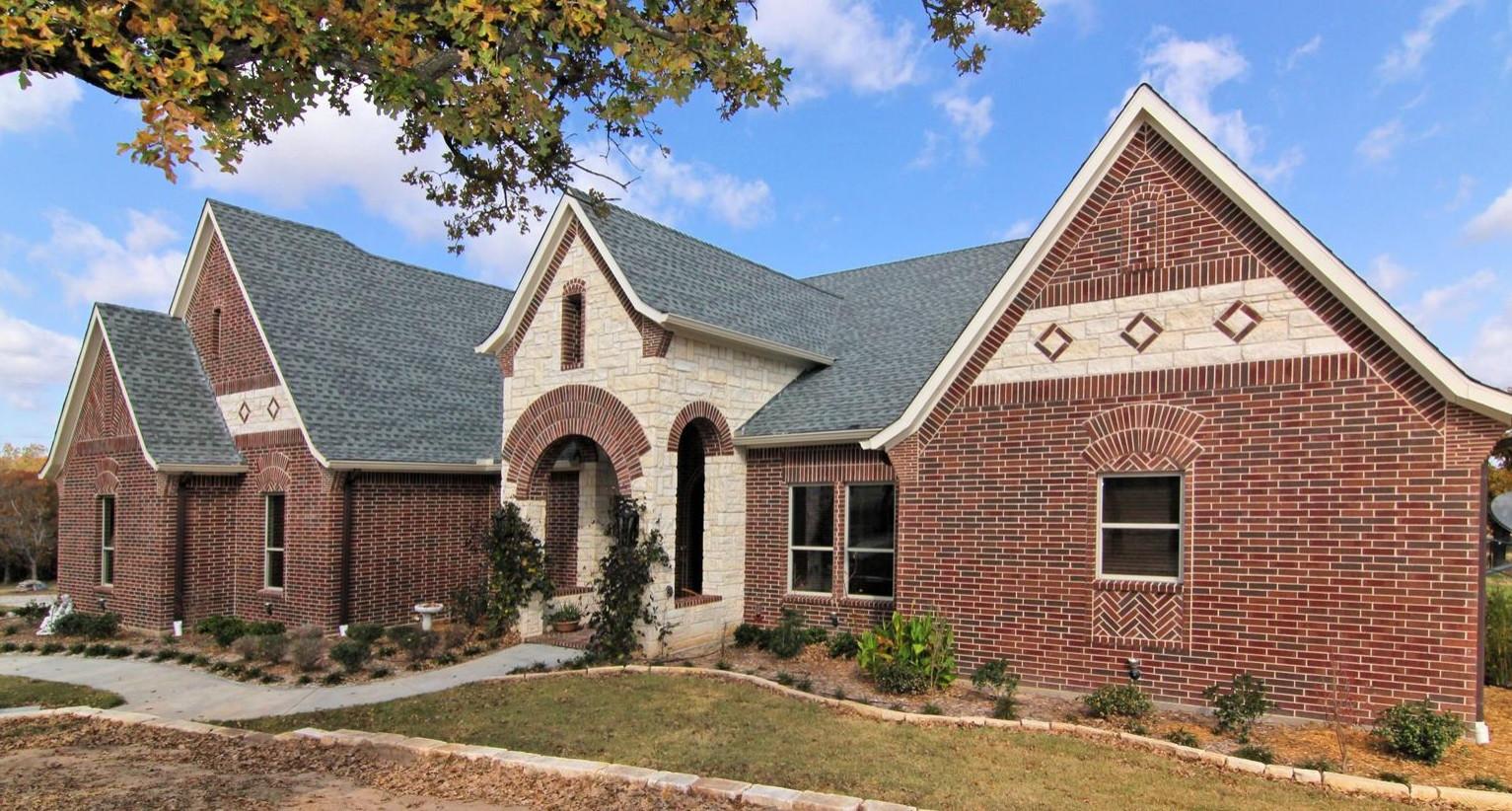 Texas Tudor - exterior front