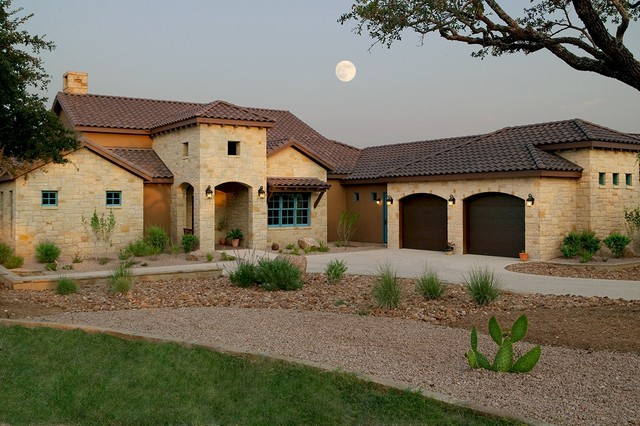 Texas tuscan ii mediterranean exterior austin by for Tuscan roof design