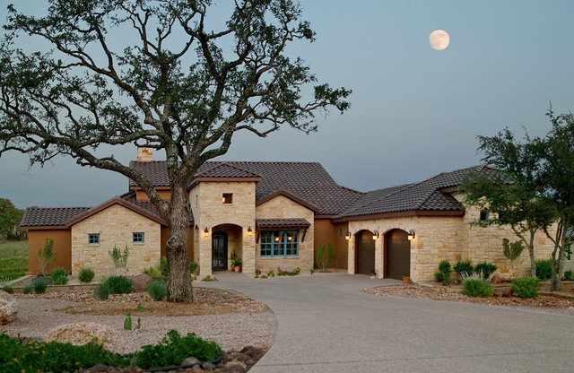 Texas Tuscan II - Mediterranean - Exterior - Austin - by Tony Roberts Custom Homes