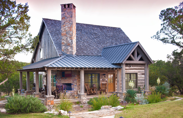 Texas vacation cabin Rustic Exterior Salt Lake City by