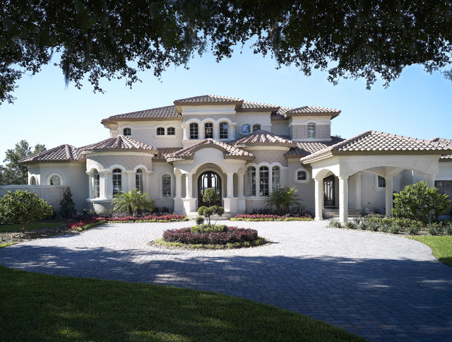 The audrey custom home mediterranean exterior tampa for Custom mediterranean homes