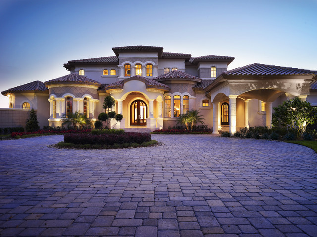 The audrey custom home designed and built by tampa home for Most beautiful mediterranean houses