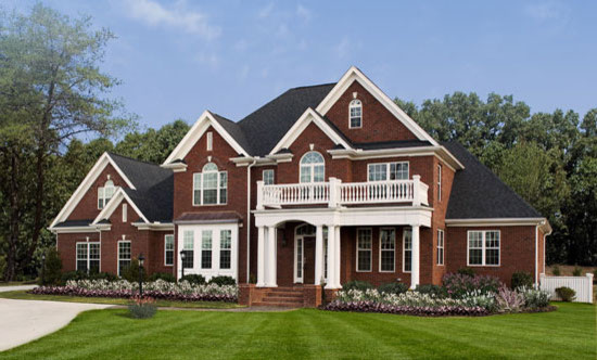 The ballenger plan 1007 traditional exterior for Brick house designs