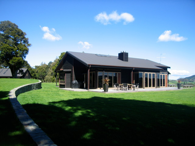 The Black House Contemporary Exterior Auckland By
