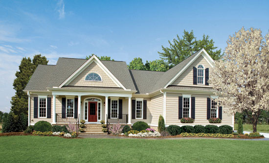 The cartwright plan 801 traditional exterior for Donald a gardner architects