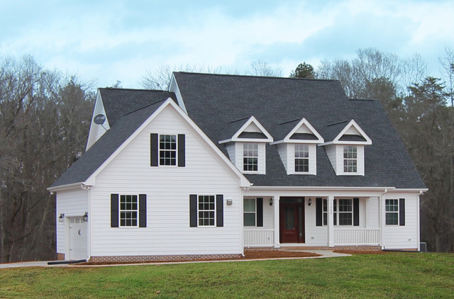 The carwile farmhouse style new home farmhouse for 2 story house plans with dormers